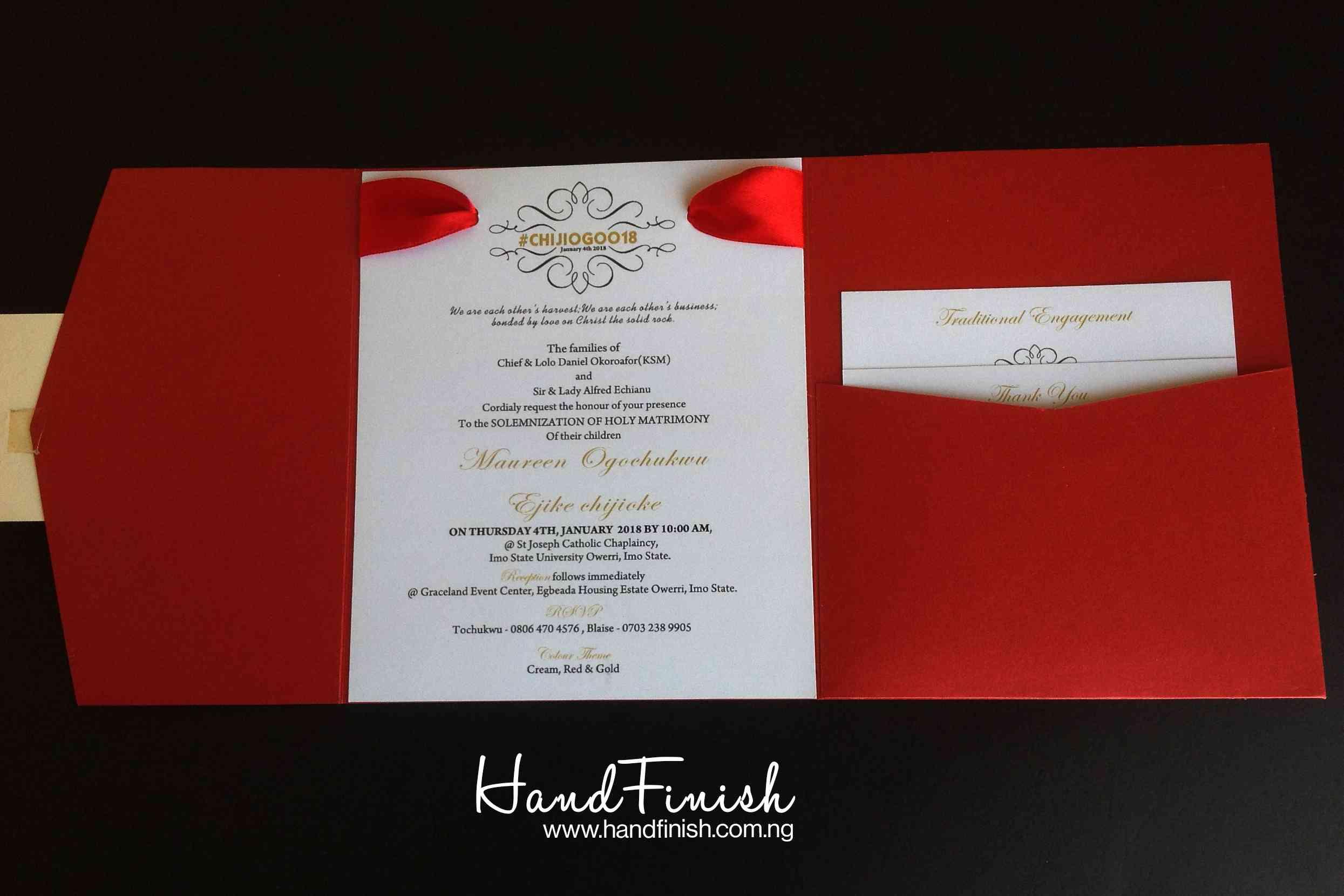 Enchanting Wedding Invitation Cards In Nigeria Vignette ...
